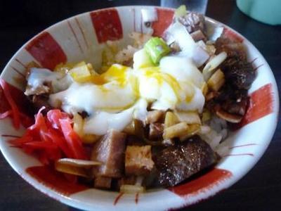 北海道ラーメン追風丸(はやてまる)のねぎチャーシュー丼